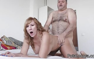 Latina MILF Katerina gets fucked by obese devotee daddy