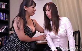 Japanese lesbian sex consecutively a the worst Ryouko Murakami and their way lover