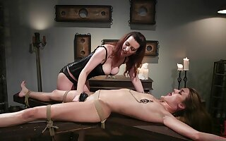 Lezdom set-to takes a kinky twist for Domme Cherry Torn and Zoe Sparx