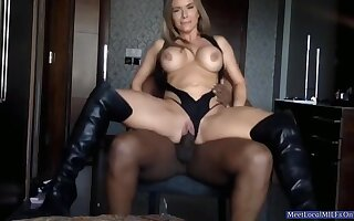 Large-Bosomed Blond mom Had Carnal knowledge By BIG BLACK COCK