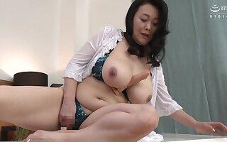 Chubby Japanese stepmom enjoying some dicks