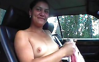Marika offers her sweet pussy while hitchhiking.