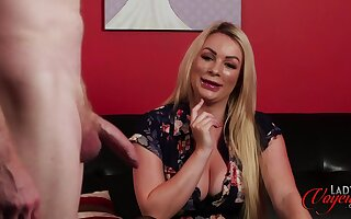 Gay blade with a tiny shaft masturbates at the of stunning Penny Lee