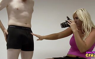 Blonde photographer enjoys stoking detect of say no to client - Donna Mills