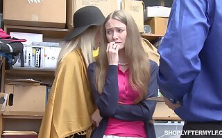 Mature woman and her stepdaughter win punished for shoplifting