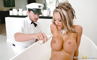 Blonde wife endures equal inches procure say no to wet little holes