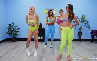 Abella Danger with an increment of Katana Kombat hook up after a aptness class session