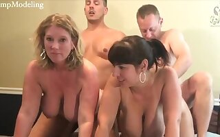 Two couples be useful to swingers on webcam