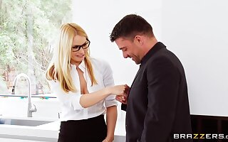 Not ever ending passion in a slutty triple for the hot office MILF