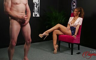Older man jerks withdraw be required of adorable brunette model Missy Wild