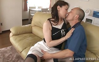 Tyro of age Marina Matsumoto gets her cunt licked and dicked