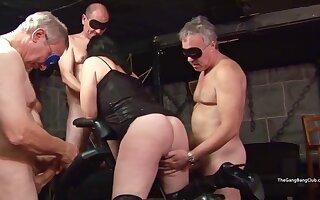 Poppy & Emma Gangbang Sex Orgy