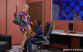 Well-endowed blonde MILF Ryan Keely gets fucked by a large black dick