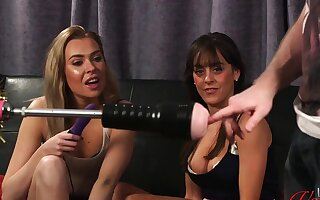 Dirty video of a lady's man procurement pleasured by a machine. With Klara Belle