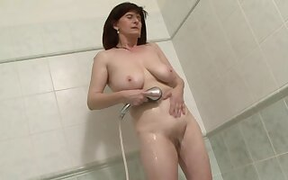 Interracial anal sex with dirty mature brunette Janicka. HD