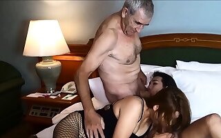 Cuckold by Asian ladyboy for Thai MILF wife with an increment of her husband