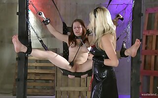 Nude together with duteous redhead gets punished for being a naughty slut
