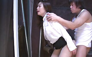 Secretary from Japan fucked from behind for report with errors