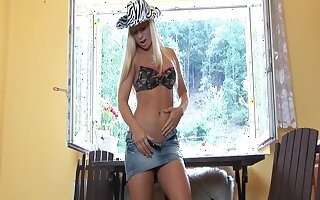 Video of sexy blondie Candy Blond pleasuring her cravings with toys