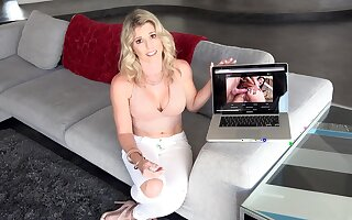 Special anal pleasures for mommy after being caught watching porn