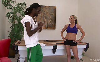 Closeup video of interracial fucking with fit blonde Sandra Del Marco