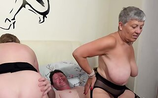 AgedLovE Two Busty British Matures Be crazy Three Dick