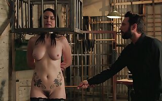 Energized matured caged with an increment of roughly fucked in meaningless BDSM action