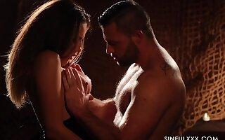 Candle light erotic peel featuring smoking hot wolf Vanessa Decker