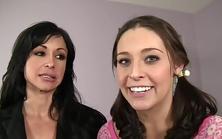 FFM threesome with a join in matrimony and a teen - Gracie Glam and Precious stones Jade