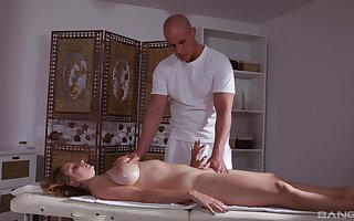 Milf massage anal sex apropos cum essentially her huge tits at the end