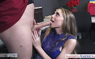 Sleeping at work place office nympho is punished with hard pounding