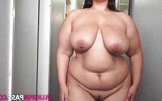 Buttercream - Hall Gully for Cream - BBW fatty roughly saggy tits solo