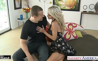 Unforgettable quickie prevalent wife's busty band together Sarah Jessie