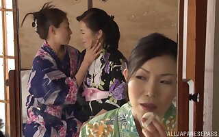Asian matures seem alright with lesbian porn