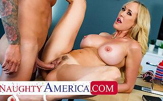 Naughty America - Big tit blonde MILF gets fucked