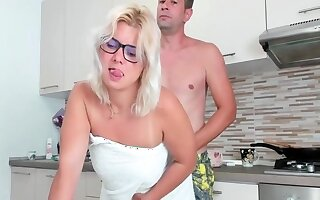 Enjoyment from this milf why she is cooking