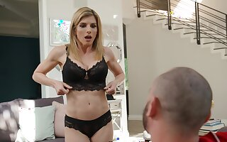 Seductive MILF Cory Chase encircling lingerie moans while getting fucked