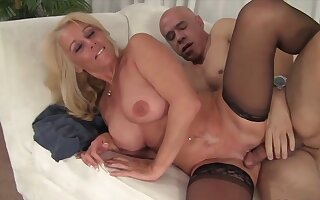 blonde old women enjoy their mature pussies getting fucked deep with the addition of good with hard dicks