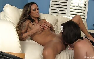 Seductive lesbian oral between Nadia Styles and Shelby Good
