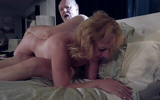 Erotic fucking video of an old couple that loves to moan during sex