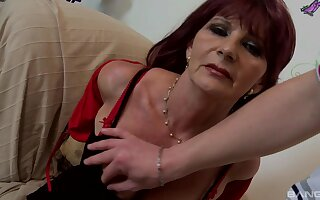 Mature amateur adores hard sex from behindwith her young lover