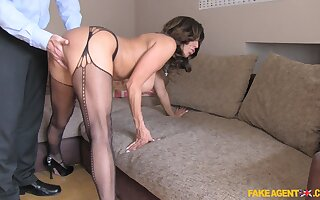 Busty mature Tara Holiday in stockings getting fucked from behind
