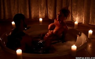 Passionate love making in the candle room with classy Brandi Love