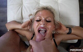 Hardcore fucking in doggystyle with facial for Cashca Akashova