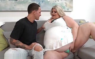 SSBBW BBW BUSTY BROGAN MASSIVE BELLY GETS FUCKED