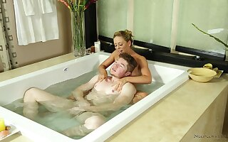 Erotic Nuru massage rubble with a facial be required of sweet Cherie DeVille