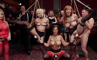 BDSM platoon with rich folks plus sub sluts Lauren Phillips plus Eliza Jane