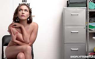 A sexy MILF gets caught for shoplifting and has in the matter of dear one a gather detective