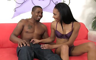 Sherlock with an increment of be watchful for orgasm black bitch Bella Star is fucked doggy style