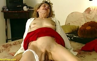 Hairy bush 81 years ancient german grandma gets wild together with unfathomable cavity fucked in crazy sex positions